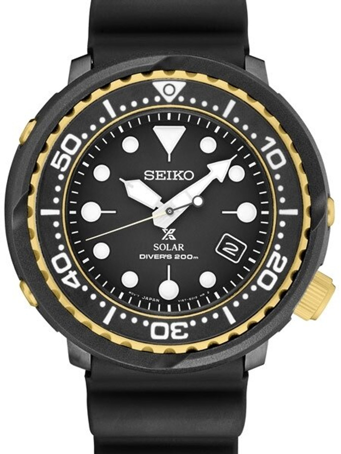 Seiko Prospex Tuna Dive Watch with Solar Movement and 47mm Case #SNE498
