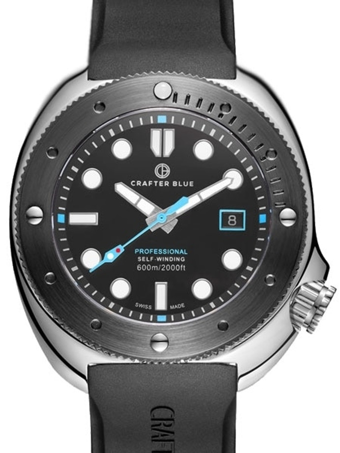 Crafter Blue Swiss Made 600-Meter Hyperion Ocean Diver with Swiss Automatic Movement  #HOSS001B-B-R