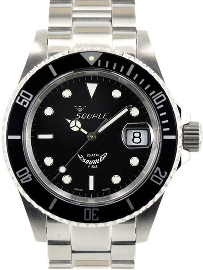 Squale 200 meter Classic Swiss Automatic Dive watch with Sapphire Crystal #1545-C