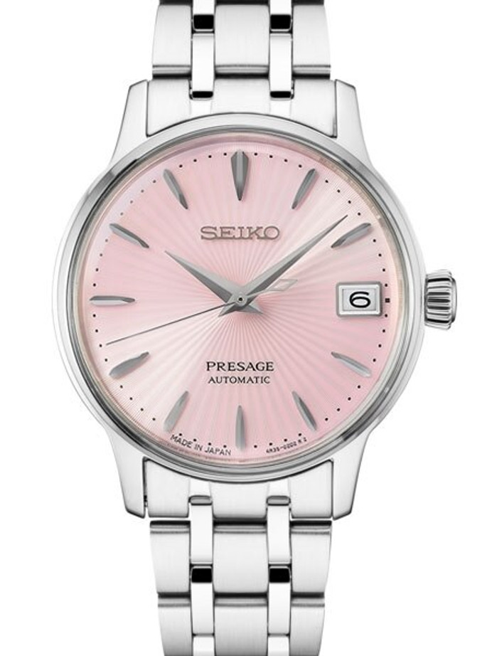 "Ladies Seiko Presage ""Cocktail Time"" Automatic Dress Watch with 33.8mm Case #SRP839"