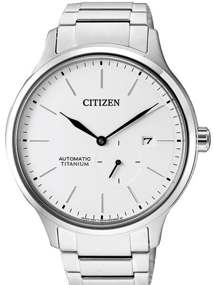 Citizen Automatic Titanium Watch with Titanium Bracelet and White Dial #NJ0090-81A