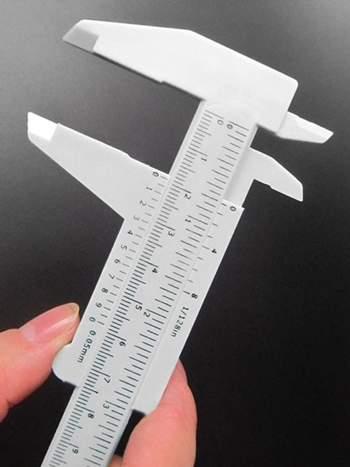 Measure Watch Sizes with this Plastic Vernier Caliper 6in/150mm - White #TUM6022