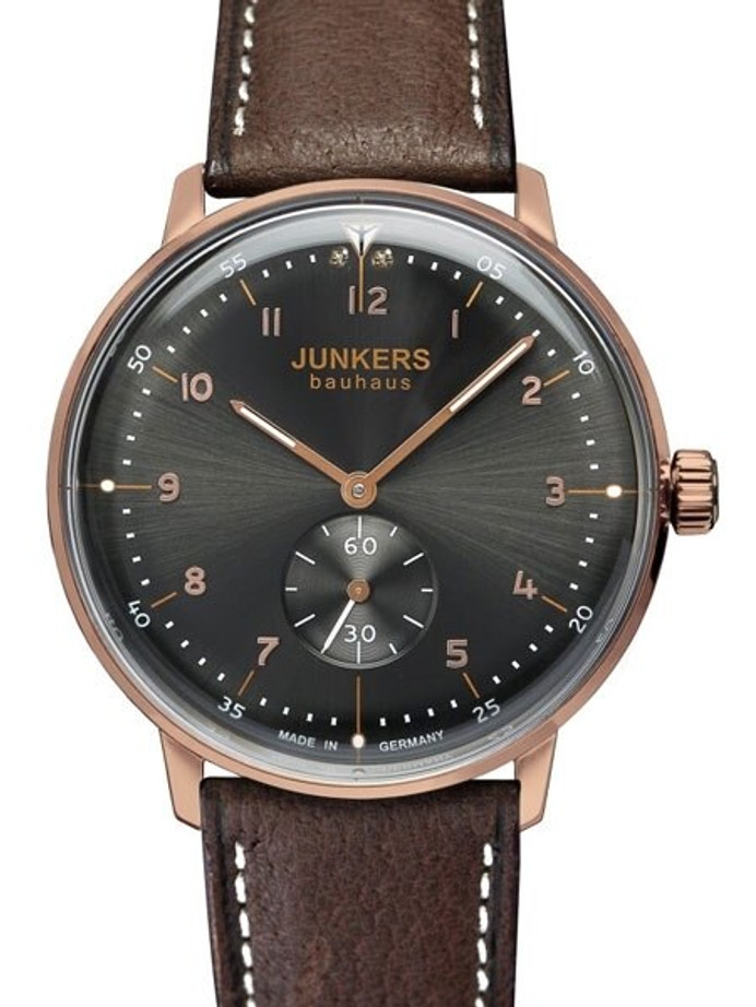 Junkers Lady Bauhaus Swiss Quartz Watch with Domed Hesalite Crystal #6037-2