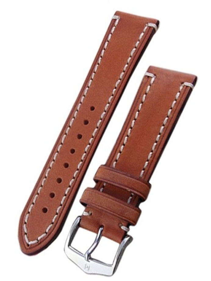 Hirsch Liberty One Piece Gold Brown Calf Leather Watch Strap #109002-70