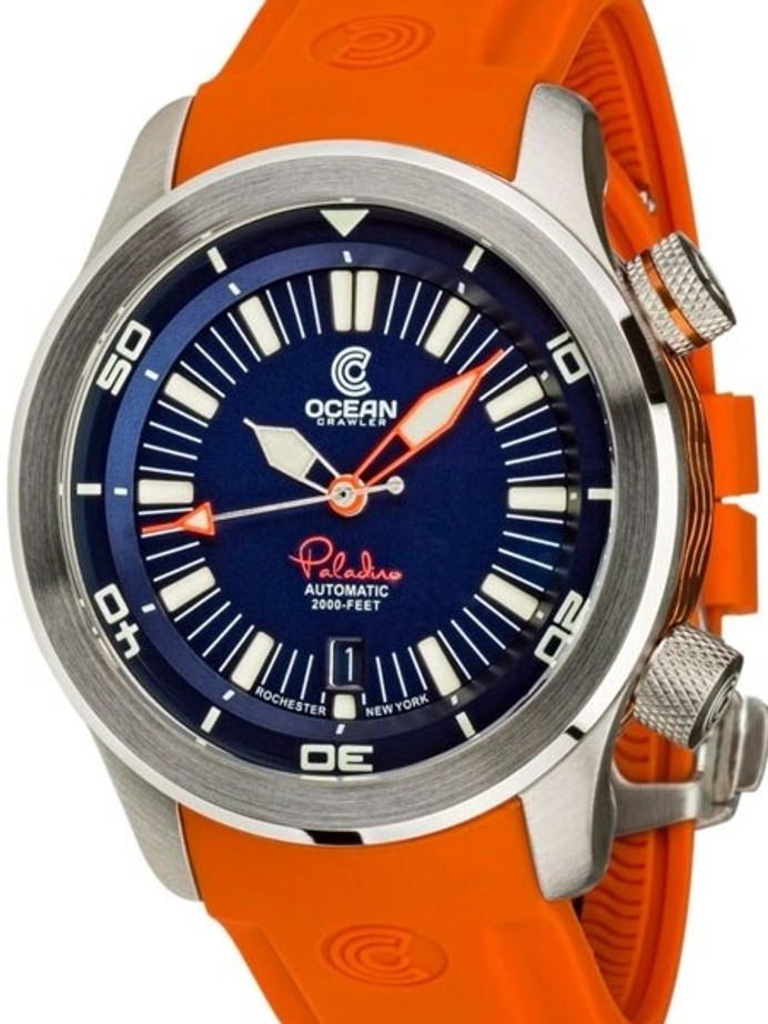 Ocean Crawler 600-Meter Paladino WaveMaker Swiss Automatic Dive Watch with Inner Rotating Bezel #1334