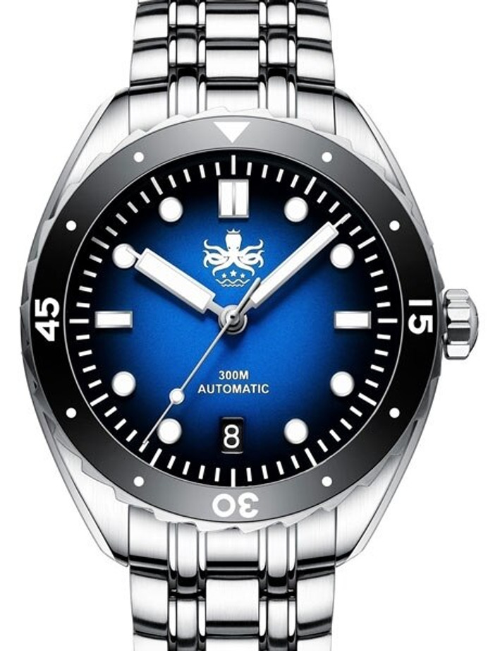 Scratch and Dent - PHOIBOS Eagle Ray 300-Meter Automatic Dive Watch with Double Dome AR Sapphire Crystal #PY025B