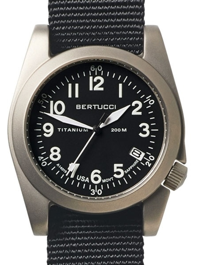 Bertucci  A-11T Americana Titanium Watch with Black Nylon Strap #13330