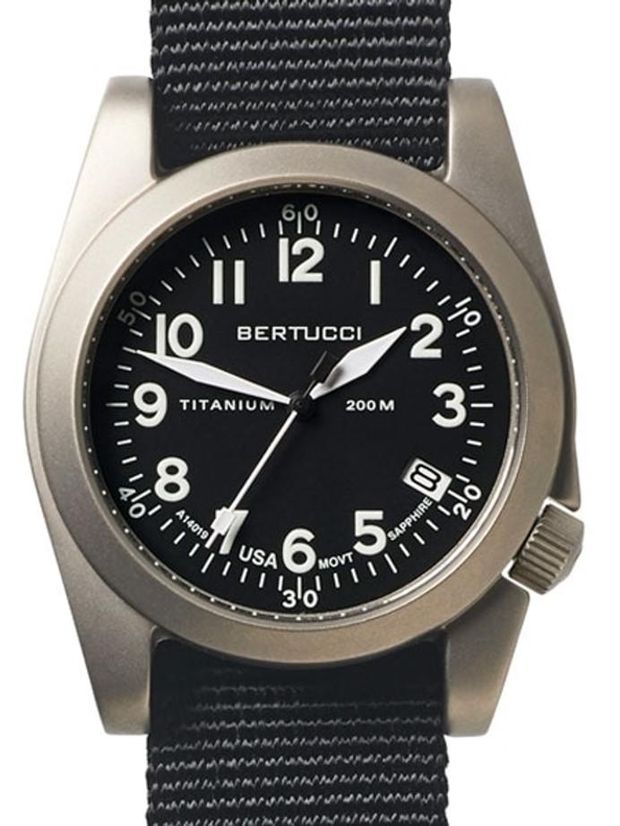 Bertucci  A-11T Americana Titanium Watch with Black Nylon Strap #13330