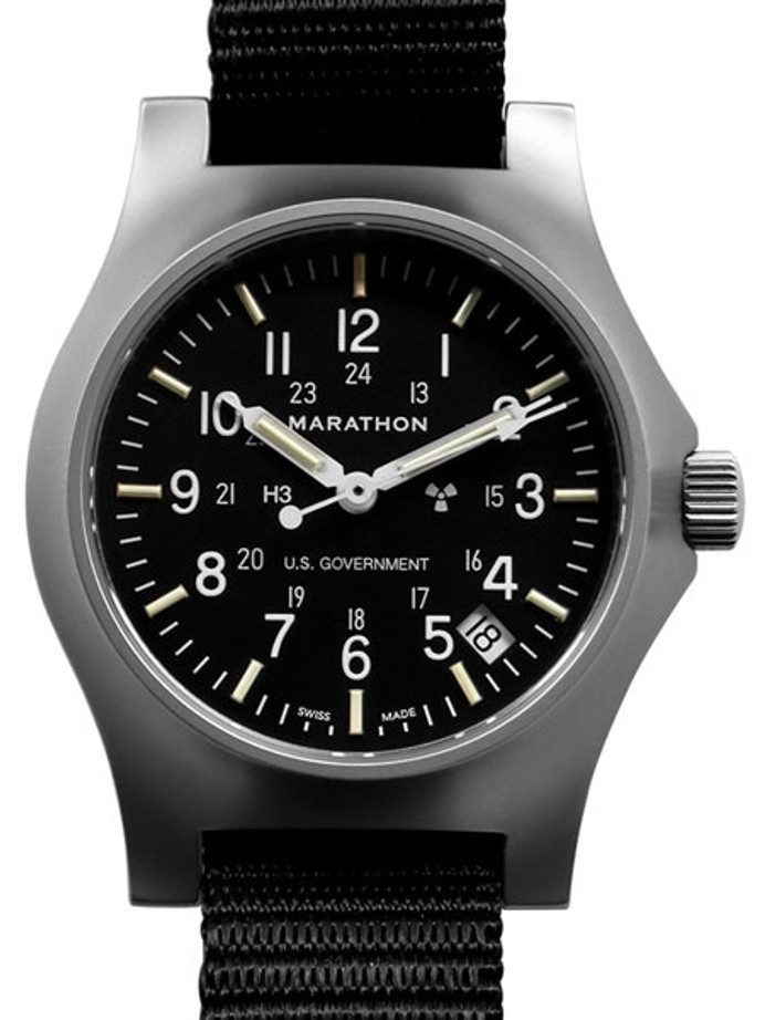 Marathon High Torque Quartz Military General Purpose SS Watch with Tritium Illumination #WW194015SS