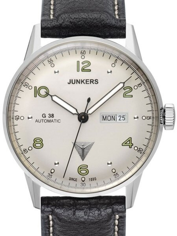 Junkers G38 Day and Date Watch with Silver Dial and Automatic Movment #6966-4