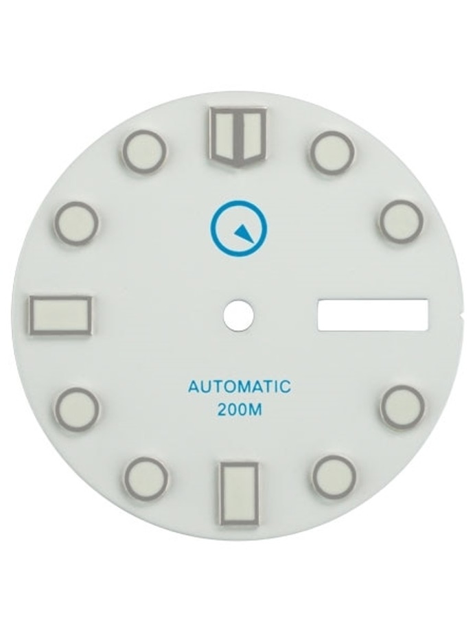 White Dial with SuperLuminova for Seiko 7S26, NH36 and 4R36 Movements #D03