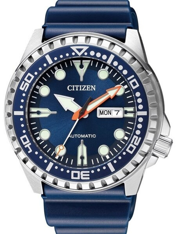 Citizen Automatic  Marine Sport Watch with Rubber Dive Strap #NH8381-12L