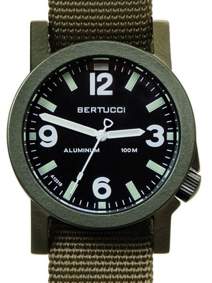 Bertucci Experior Anodized Aluminum Unibody Watch with Nylon Strap #16504