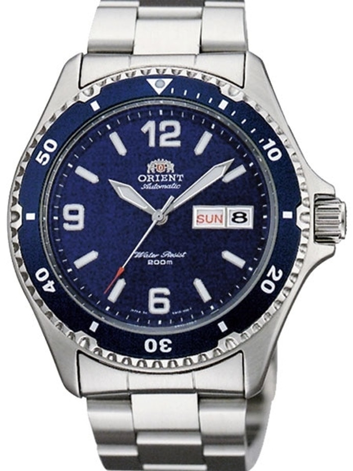 Customized Orient Mako II Blue Dial Automatic Dive Watch #AA02002D