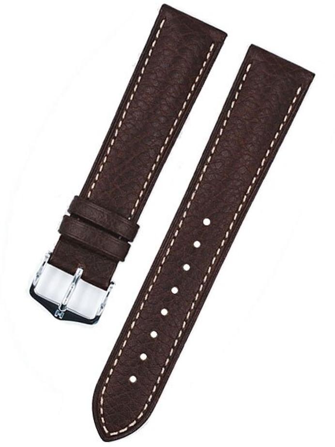 Hirsch Boston Brown High Grain Leather Watch Strap #013020-10