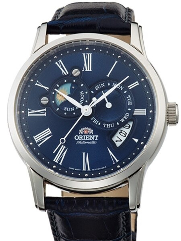 Orient Automatic Watch with Blue Dial, Sapphire Crystal #ET0T004D