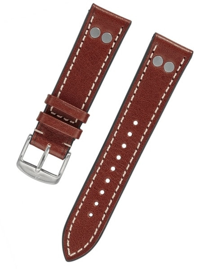 Laco WWII-Style Leather Pilot Strap with Rivets and Easy Breather Construction #Laco-BR