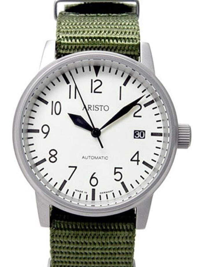 Aristo 3H41 Jager 90 Swiss Automatic Watch with Luminous Dial