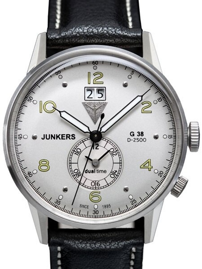 Scratch and Dent - Junkers G38 Big Date, Dual Time Watch with Two Crowns #6940-4 1