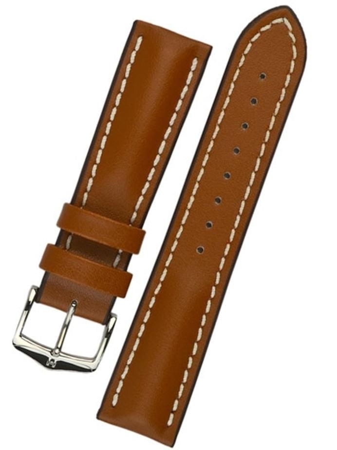 Hirsch Golden Brown Heavy Calf Leather Watch Strap #014750-70