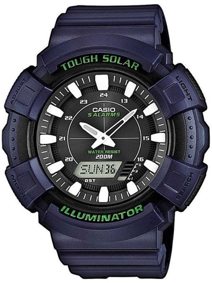 Casio Tough Solar-Light Powered World Time Chronograph Alarm #AD-S800WH-2AV