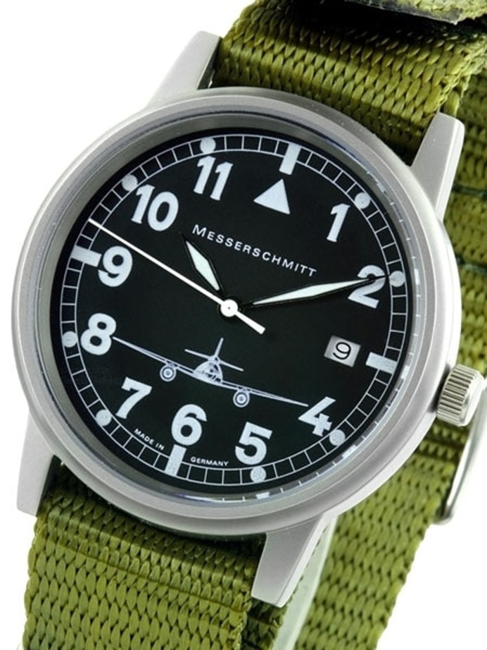 Messerschmitt 38.5mm Stainless Steel Case Aviator Watch #ME262S