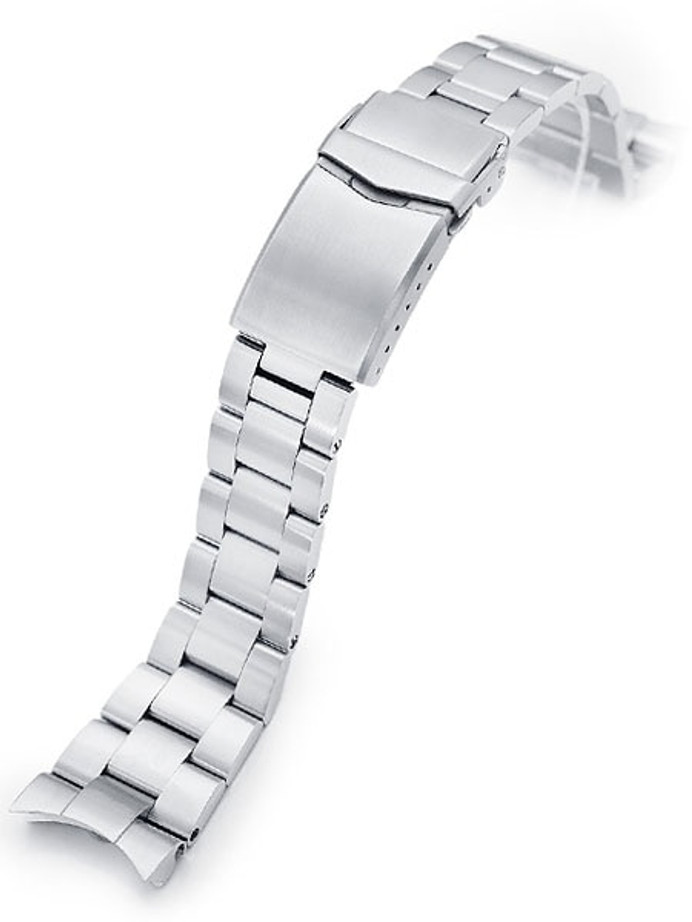 "Strapcode 22mm Super-O ""Boyer"" watch band for Orient Kamasu #SS221820B115"