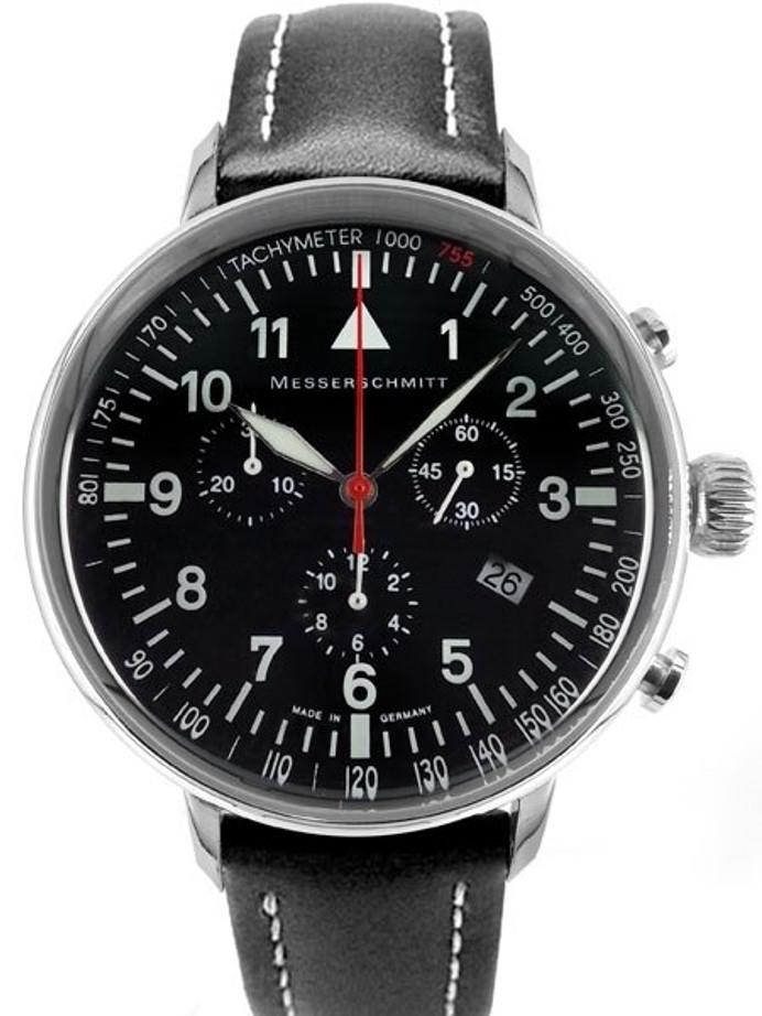 Messerschmitt Aviator's Quartz Chronograph Watch with 42mm Case #ME-755