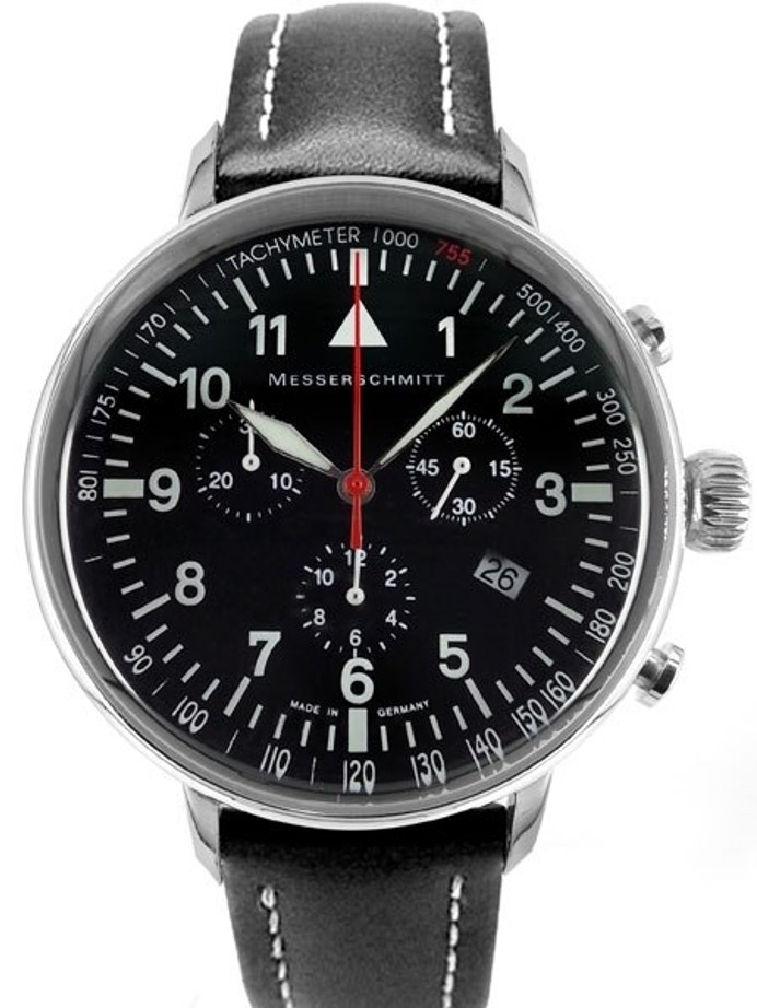 Messerschmitt Aviator's Quartz Chronograph Watch with 42mm Case #ME-755