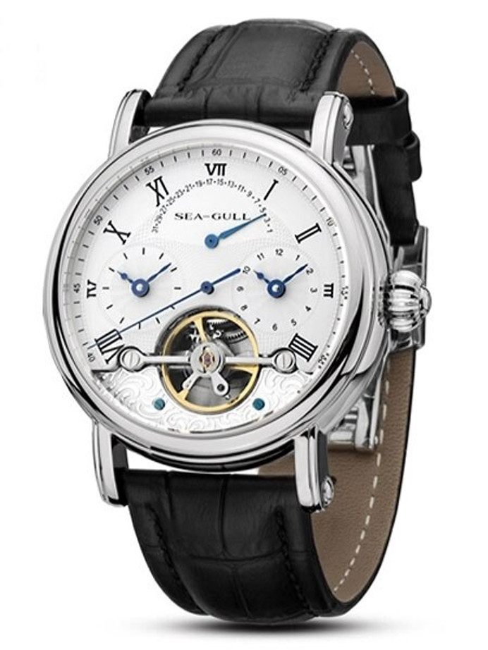 Sea-Gull 41mm Automatic Watch with Dual-Time Displays #819.380
