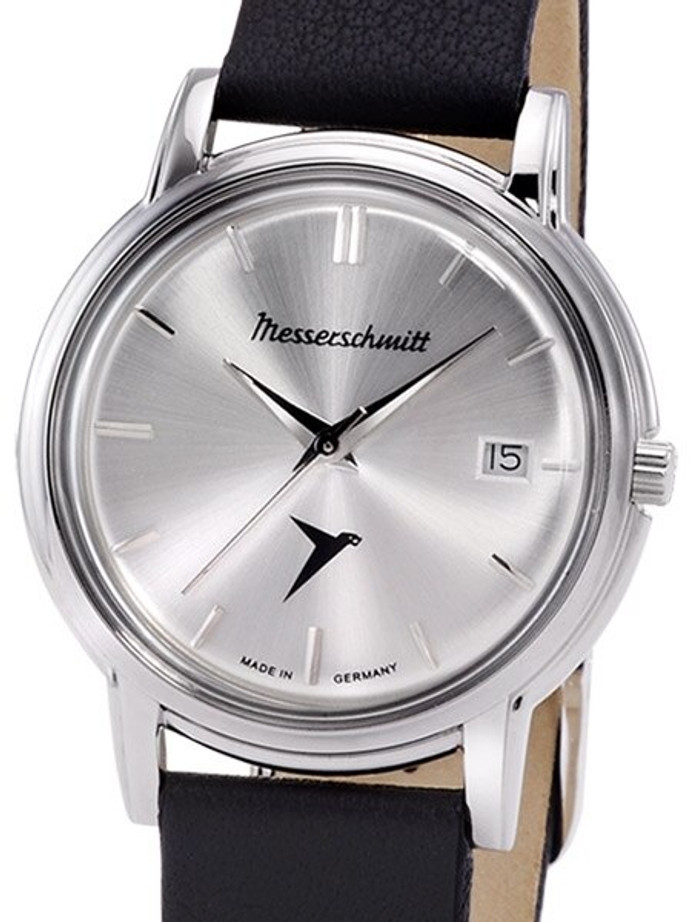 Messerschmitt Radiant Silver Dial Special Edition Quartz Dress Watch #KR200-SS