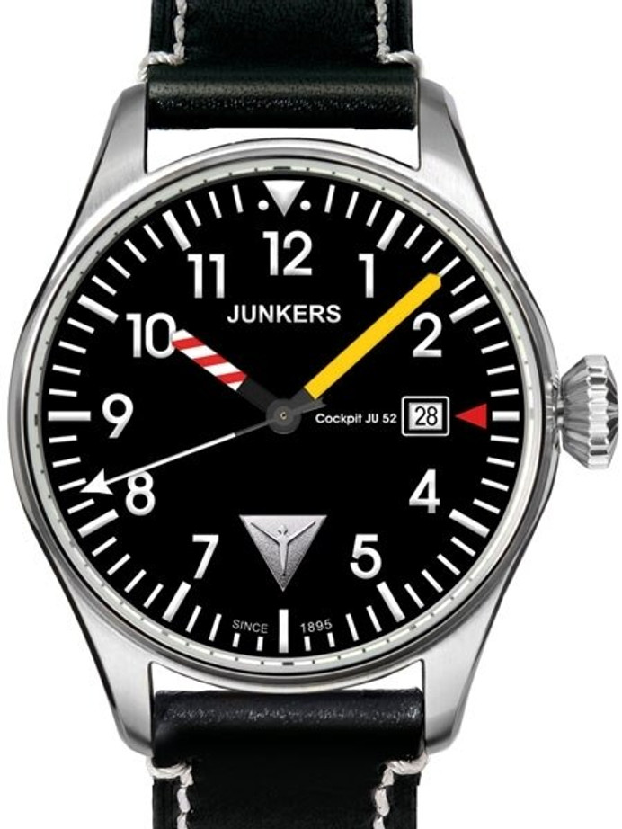 Junkers Cockpit JU52 Series Pilot Watch with Aviator Instrument Hands #6144-3