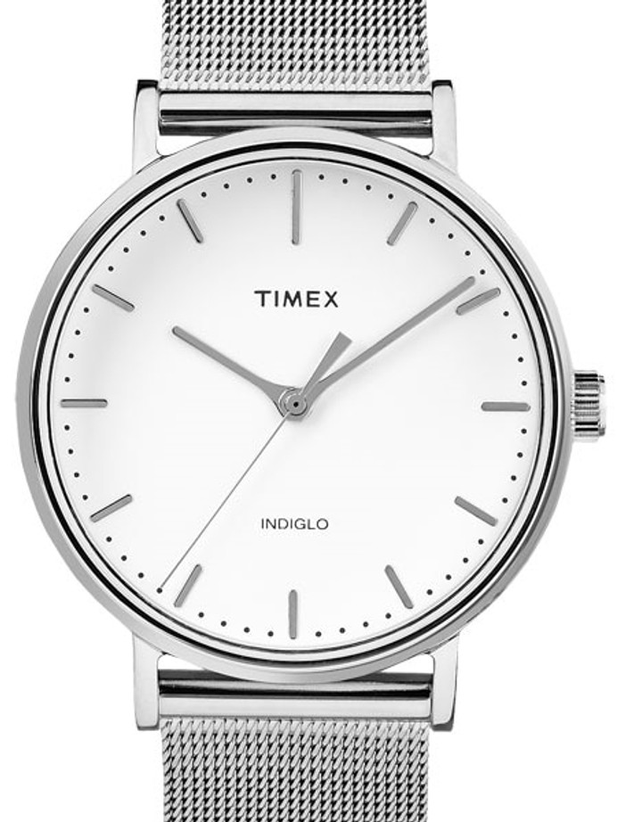 Timex 37mm Fairfield Quartz Dress Watch with White Dial and INDIGLO Night-Light #TW2R26600ZA