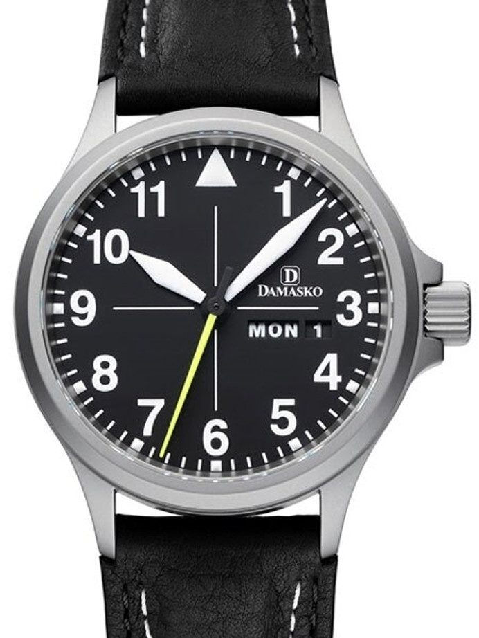 Damasko Swiss ETA Automatic with a 40mm Bead-Blasted Case,  Black Dial #DA36