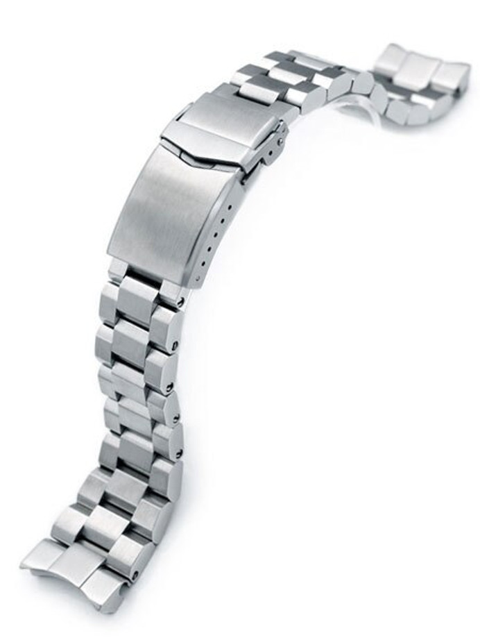 """Strapcode 22mm Hexad-O """"Boyer"""" 316L Stainless Steel Watch Band for Seiko New Samurai #SS221820B066"""