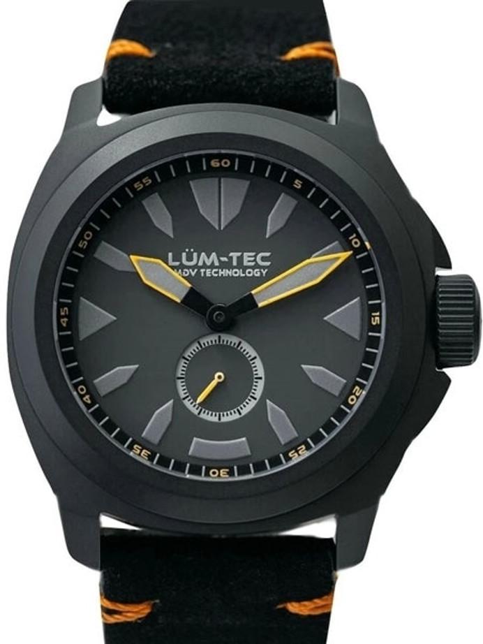 Lum-Tec Phantom 44mm Watch with Titanium Carbide Black PVD Case, AR Sapphire Crystal #M86