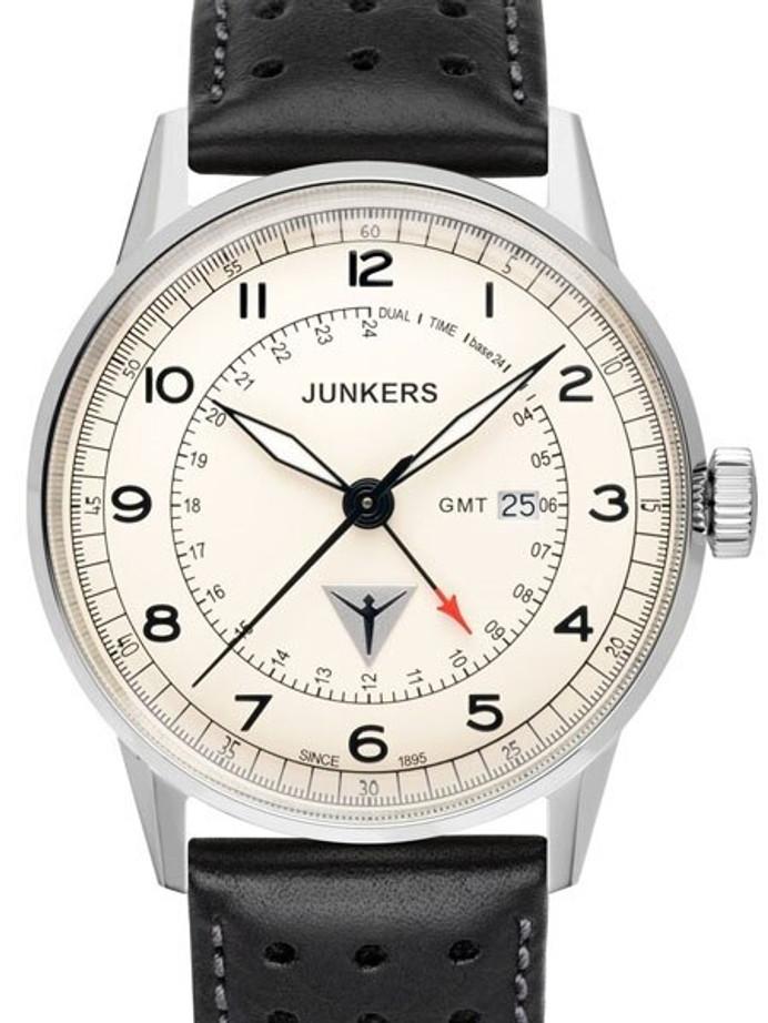 Junkers G38 Series, 42mm Quartz GMT Dual Time Watch #6946-5