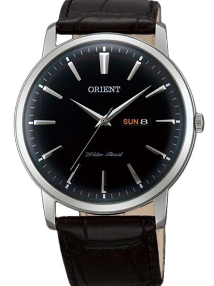 Orient Capital Quartz Analog Dress Watch with Day and Date #UG1R002B