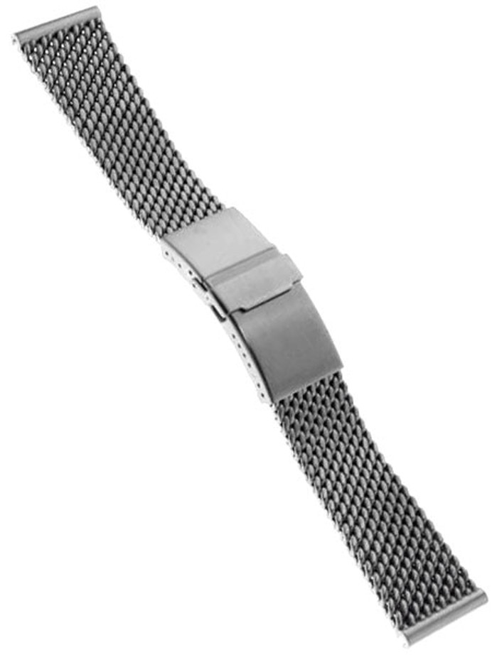 STAIB Satin Finish Mesh Bracelet #STEEL-2784-20704APB-S (Straight End, 22mm)