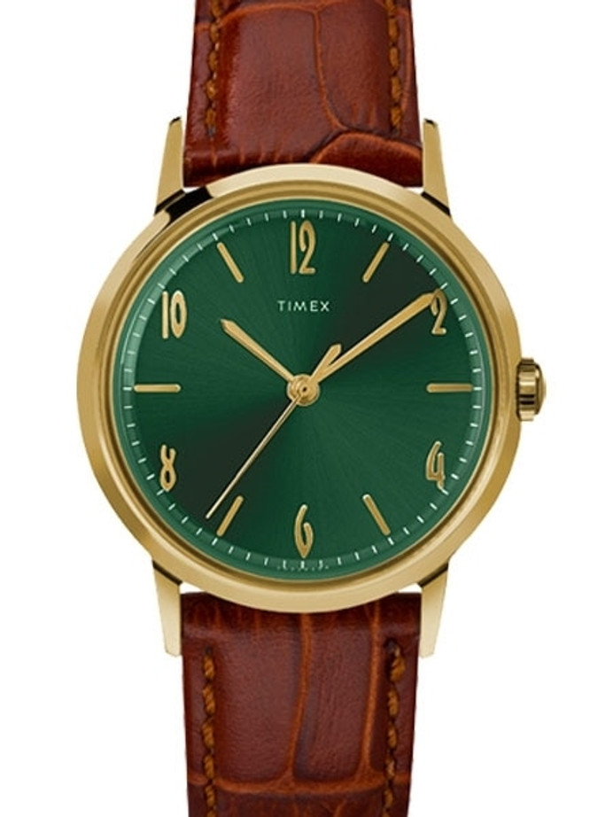 Timex 34mm Marlin Mechanical (Hand Wind) Watch with Green Dial #TW2U01700ZV