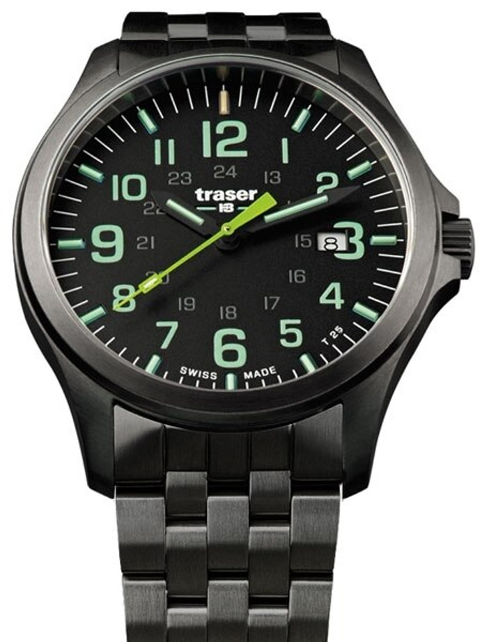 Traser Officer Pro Gun Metal PVD Case Watch with an Anti-Reflective Sapphire Crystal #107869