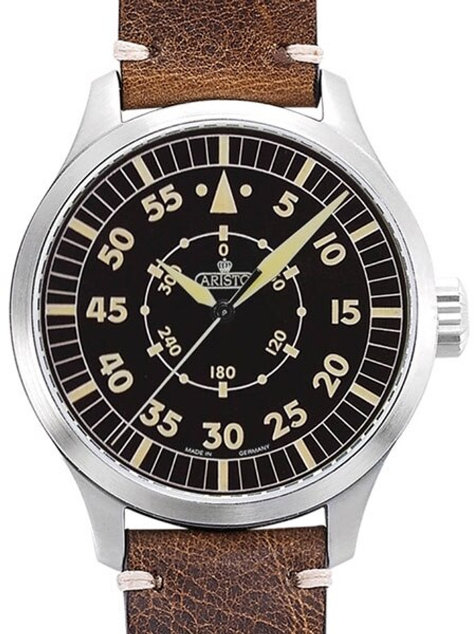 Aristo 47mm Swiss ETA Automatic Vintage Navigator Watch with Sapphire Crystal #7H99