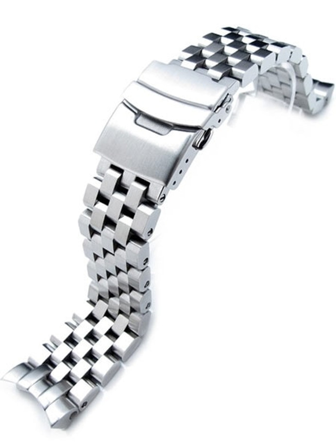 Strapcode 22mm SUPER Engineer Type II Stainless Steel Watch Band for SEIKO SKX007-009-011 Curved End #SS222003B025