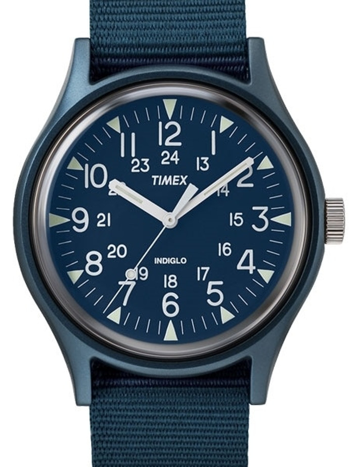 Timex 40mm MK1 Quartz Watch with Blue Dial and INDIGLO Night-Light #TW2R37300VQ