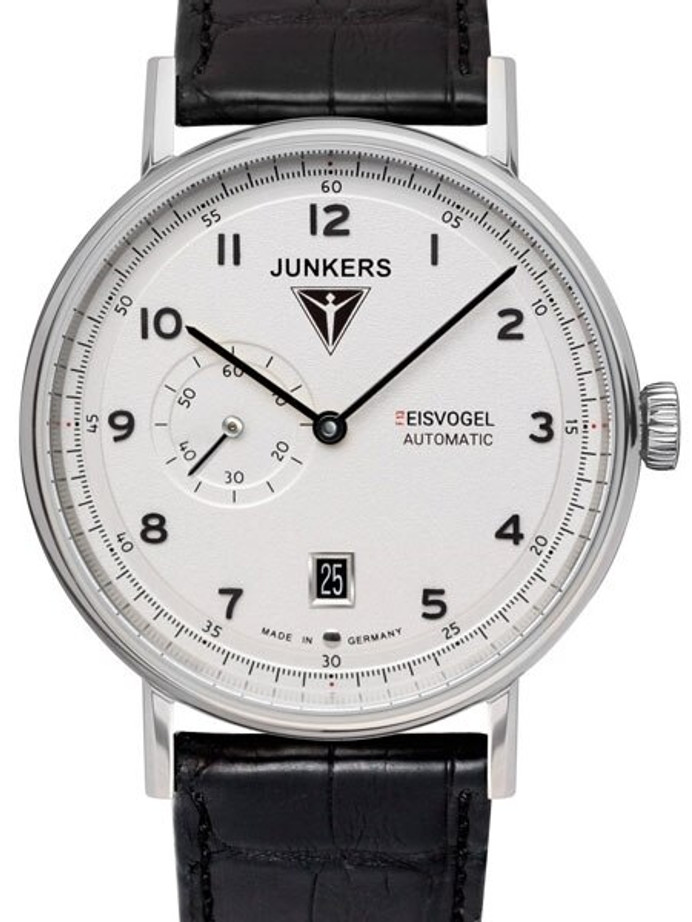 Junkers Eisvogel F13 Swiss Automatic Watch with Sapphire Crystal, Alligator Strap #6704-1