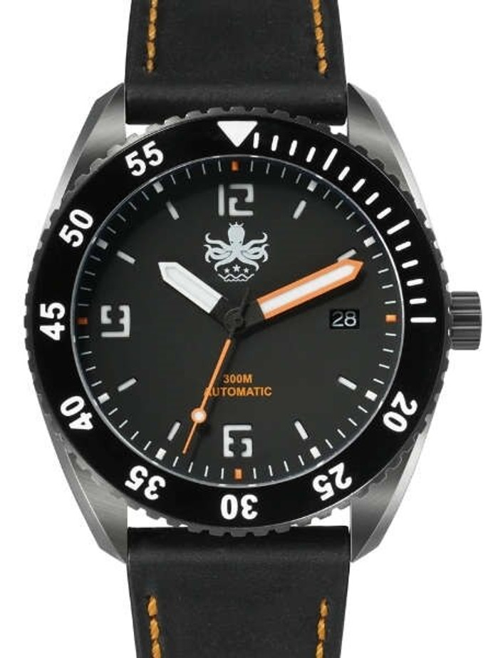 PHOIBOS Reef Master DLC 300-Meter Automatic Dive Watch with Double Dome AR Sapphire Crystal #PY015D