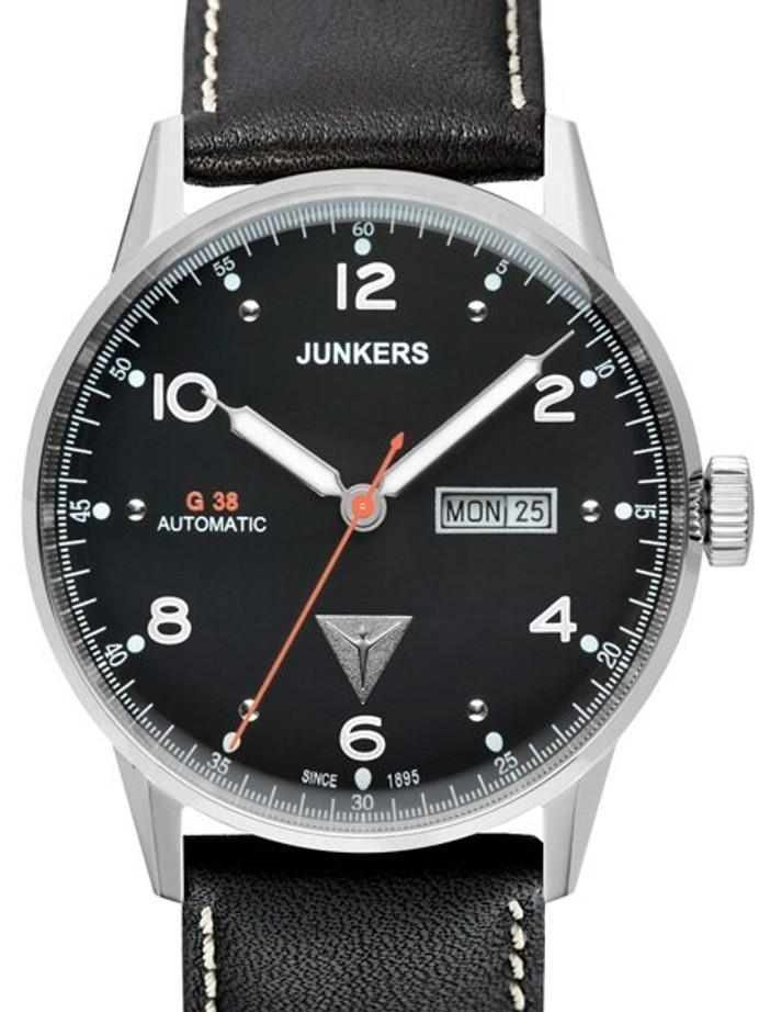 Junkers G38 Day and Date Automatic Watch with Black Dial #6966-2