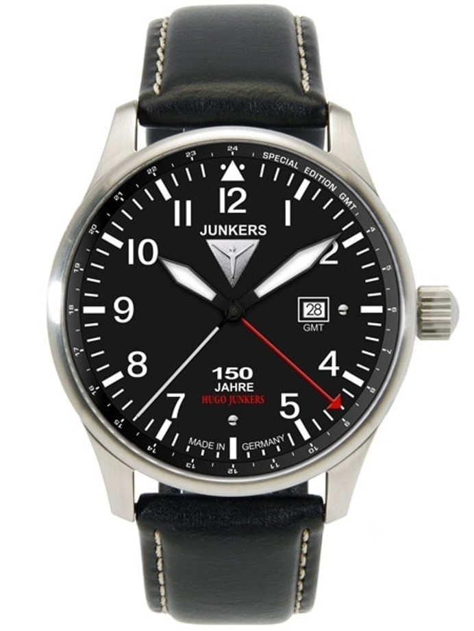 Scratch and Dent - Junkers 150 Years Hugo Junkers Anniversary 40mm GMT Watch #6644-2