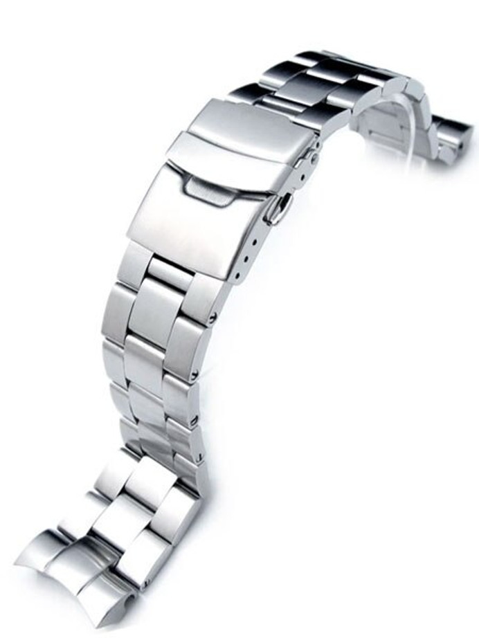 """Strapcode 22mm Super-O """"Boyer"""" watch band for SEIKO SNZF15 and SNZF17 Sea Urchin #SS222019B036"""