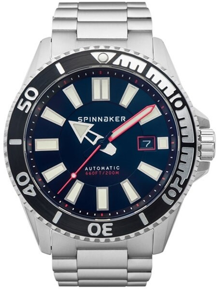 Spinnaker Automatic 200 Meter Dive Watch with Stainless Steel Bracelet #SP-5074-11